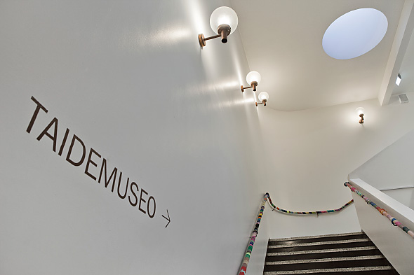 The staircase of the Hyvinkää Art Museum.
